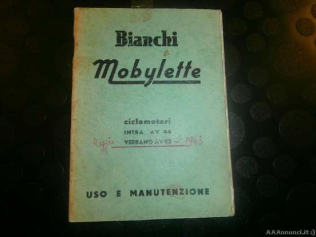 Libretto uso e manutenzione BIANCHI MOBILETTE - Milano