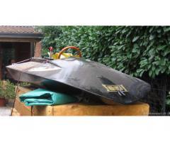 Idroplano riproduzione in legno barca da corsa