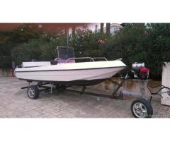 Barca Open e motore Johnson 25 cv con carrello alaggio motor