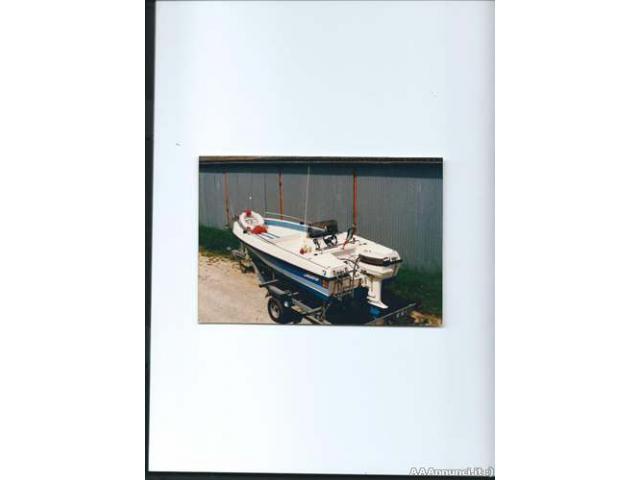 Barca + motore + carrello stradale