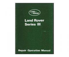 Manuale originale Land Rover III° Serie - Narni