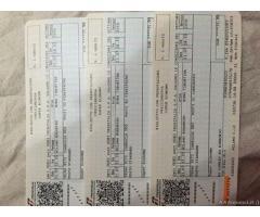 Vendo 3 biglietti treno fracciarossa da Milano a Roma