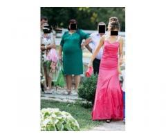 Bel abito da cerimonia e sposa