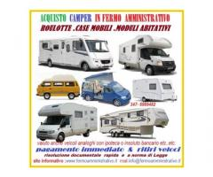 Camper gravati da Fermo Amministrativo acquisto,ritiro immediato 3476989482