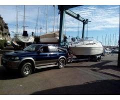 Carrello trasporto barche e gommoni fino a 8 metri, a noleggio