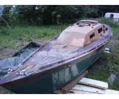 Barca legno antica 7 metri
