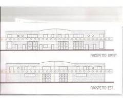 area artigianale con progetto 5 capannoni