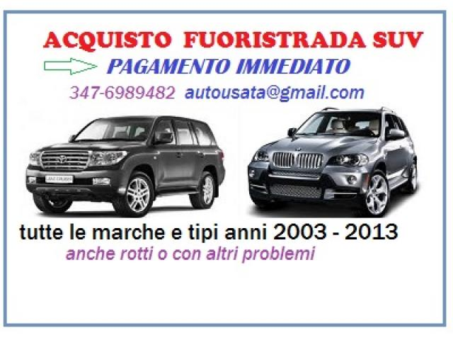 Acquisto Suv Fuoristrada usati possibilmente recenti anni 2006-2013