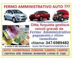 Acquisto ritiro auto con fermo amministrativo,veicoli con questo problema, pagamento immediato