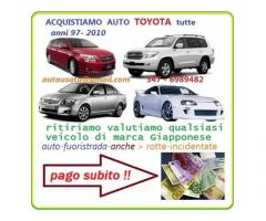Acquisto auto usate, anche se rotte o incidentate pagamento immediato chiama 3476989482