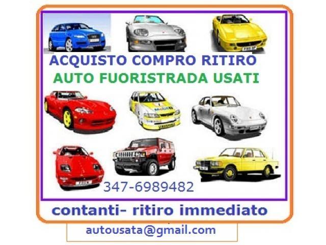 Acquisto auto usate per contanti,chiama 3476989482