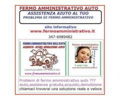 Problemi di FERMO AMMINISTRATIVO sull'auto ,te la compro io 3476989482