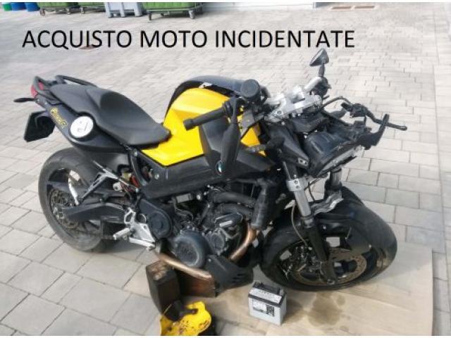 Acquisto moto incidentata caduta fusa rotta sinistrata, usata per immediato realizzo