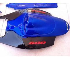 SUZUKI GSX 600 KIT CODA + SERBATOIO CARENA ABS ANNO 06 07 BLUE originale SUZUKI