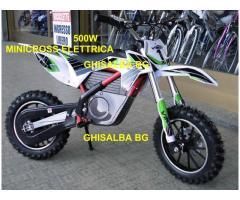 minicross elettrico da 500W bianco verde