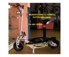 monopattino elettrico robusto da 48V - 1000W autonomia 50KM