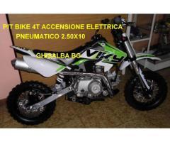 pit bike 4T bianca verde monomarcia