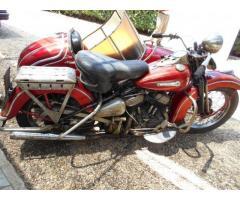 Harley davidson 750 con sidecar