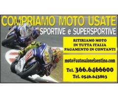 COMPRIAMO MOTO USATE- PAGAMENTO IMMEDIATO-RITIRO IN TUTTA ITALIA