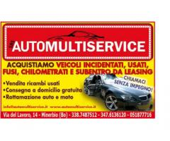 Acquistiamo auto incidentate , Firenze
