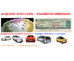 Acquisto auto usate anni 2004-2013 pagamento immediato