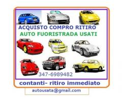 Acquisto auto veicoli usati, ritiro immediato chiama 3476989482