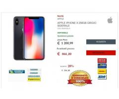 Nuovo Apple iPhone X 256GB Gray sidereal smartphone