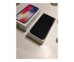 Apple iPhone X 64GB €400 ,iPhone X 256GB €450,iPhone 8 64GB €350
