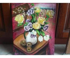 Vendo dipinto eseguito interamente a mano Olio su tela