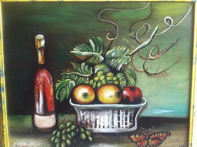 Dipinto eseguito interamente a mano olio su tela