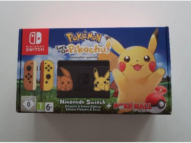 Nintendo Switch Let's Go Pikachu Pokeball Plus