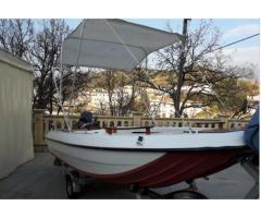 Barca e motore completa di carrello omologato