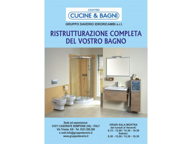 Ristrutturazione bagni,Varese,Cardano al Campo,Gallarate,Jerago
