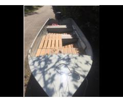 Barca in alluminio con motore