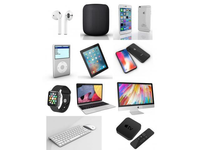 Ultimi Apple Macbook Apple iPhone Apple iPad e iWatch