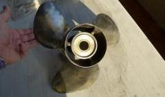 Elica Inox lucida 3 pale 14 ¾ x 19 per Evinrude 150-200