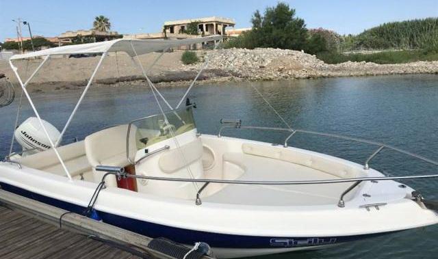 Barca 5.20 mt 6 posti motore 40 cv senza patente