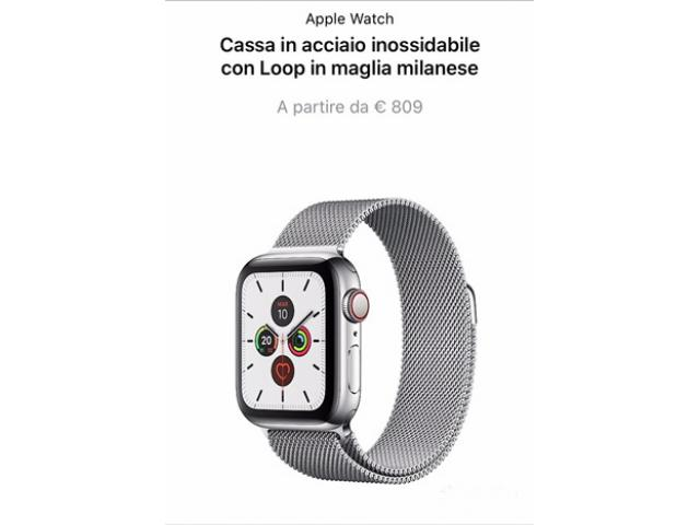 Apple Watch serie 5 in acciaio NUOVO