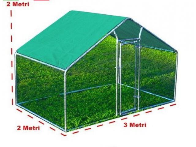 Gabbia per Polli 3x2m x 2mH-6mq - Verde
