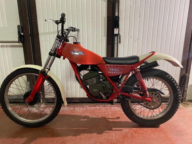 Stock moto da trial epoca