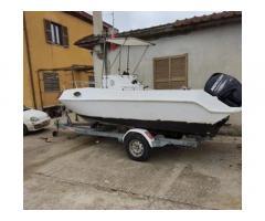 Barca motore carrello omologato stradale