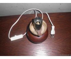 Lampada da tavolo in legno di epoca 900' - Biella