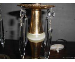Coppia lampade da tavolo in ottone epoca 900' - Biella