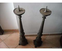 Vecchia coppia candelabri 800 - Verona