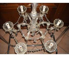 Vecchio lampadario maria teresa 6 luci anni 30-40 - Verona