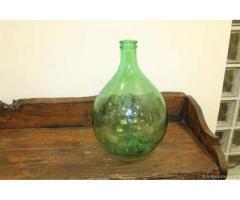 Bottiglia vetro vintage industriale anni 50 centrotavola - Viterbo