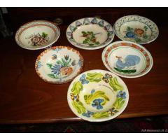 10 piatti rustici da collezione dell'800 - Vicenza