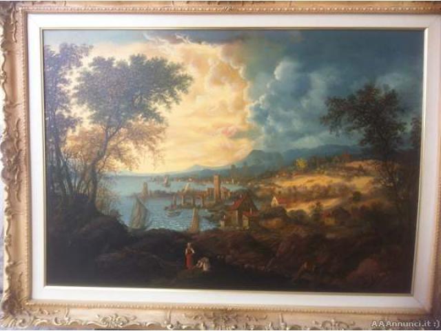 Quadro olio su tela - Veneto