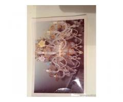 Lampadario in vetro di Murano a 10 candele dell'800 - Ragusa