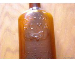 Vecchia bottiglia ACQUA DI ROMA primi 900 - Verona